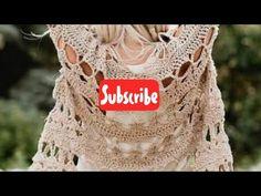 Crochet Jacket, Knit Crochet, Crop Tops, Knitting, Bikinis, Youtube, How To Wear, Women, Beautiful