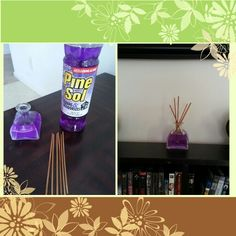So I did this last month but forgot to take picture, I refilled it today and let me tell you my house smells amazing.  I have also tried it with other pine-sol fragrances and with faboulos. It last longer and houses smells clean for a few weeks. No more buying expensive oils.   Idea by S.M.G ^_^