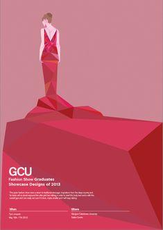 GCU Fashion Show Poster by Craig Hausman, via Behance