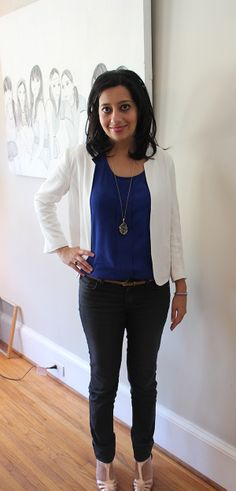 How I styled my stitch fix with a personal touch of my jewelry.    jeans: Faye Skinny Jean by Just Black and Barcelona Solid Short Sleeve Blouse by Daniel Rainn #stitchfix #howtostyleanoutfit @Nesreen Mills Fix  www.joujoumylove.com