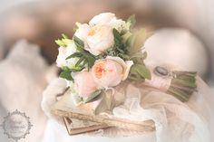 Brautstrauß in Puder Apricot