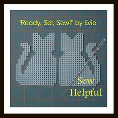 "Plastic Canvas: ""Sew Helpful"" -- Cats (2 plastic canvas cat shapes), ReadySetSewbyEvie . . . Check out all of the pre-cut plastic canvas shapes at my Etsy shop!"