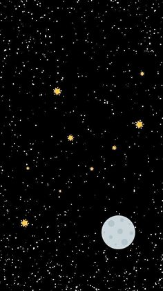 42 Trendy Space Wallpaper Iphone Stars The Moon Black Wallpaper Iphone, Wallpaper Space, Tumblr Wallpaper, Galaxy Wallpaper, Lock Screen Wallpaper, Cool Wallpaper, Mobile Wallpaper, Planets Wallpaper, Star Wallpaper