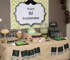 "Photo 1 of 9: Mustache / Baby Shower/Sip & See ""Mustache Baby Shower"""