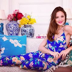 New Print Alert! Vintage Blue Floral Collection Just Arrived In Stores & Online! Can't Wait For Summer Summer Time!☀️ #yumikim #ykmyway By Yumi Kim