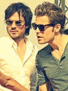 Ian Somerhalder and Paul Wesley - too much attractiveness in one pic!!