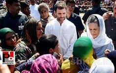 Congress president Sonia Gandhi along with party Vice President Rahul Gandhi meeting with flood affected people at Dehruna village of Anantnag district of South Kashmir. They assured all support to the people. More... www.pressbrief.in