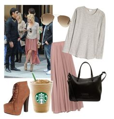 """""""Ashley Benson"""" by go4ned on Polyvore featuring Lara Khoury, Breckelle's, Ray-Ban and Marc by Marc Jacobs"""