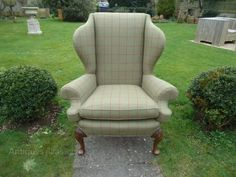 reupholstered wingback armchair - Google Search