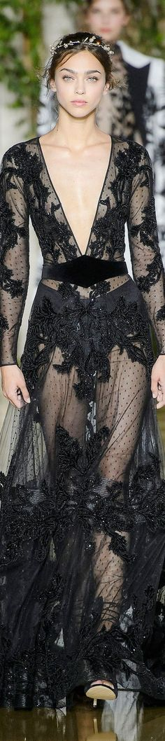 Fashion Week Elie Saab Fall/Winter 2014 RTW - This in white would be perfection Couture Fashion, Runway Fashion, Fashion Show, Paris Fashion, Elie Saab, Dress Vestidos, Costume, Mode Outfits, Looks Style