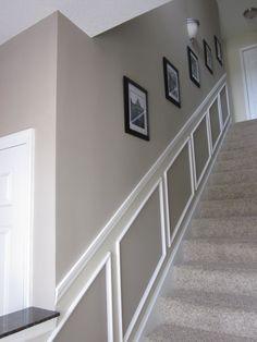 Stairway-----Benjamin Moore Pismo Dunes & Benjamin Moore Manchester Tan