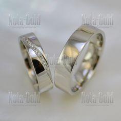Обручальные кольца из белого золота с дорожкой из бриллиантов (Вес пары  14  гр. 4de1563d32c