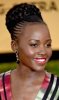 Updo Cornrow Braids Hairstyles for Black