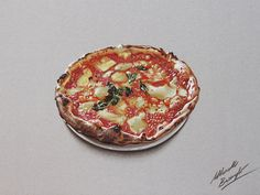 Watch on YouTube how I draw this pizza http://youtu.be/mxIj6mdiZfY (HD video)