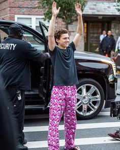 This beautiful human is wearing Hello Kitty pj pants .... need I say more?