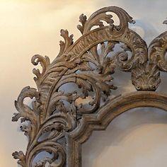 Monumental antique Italian baroque frame, circa 1650, fruitwood with wonderful patina.