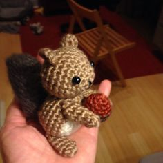 Tiny Squirrel–Designed and crocheted by me :)