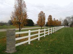 3 Easy And Cheap Diy Ideas: Brick Fence Design horizontal fence pots. Brick Fence, Front Yard Fence, Farm Fence, Fenced In Yard, Cedar Fence, Fence Gate, Backyard Fences, Front Yard Landscaping, Backyard Ideas