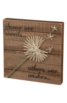 Primitives by Kathy String Art Box Sign, Dandelion-Wishes - Excellent quality very fair price.This Primitives by Kathy that is ranked 74 String Art Diy, String Crafts, Texas String Art, Anchor String Art, String Art Heart, String Art Tutorials, Wall Art Crafts, Craft Night, Wooden Crafts