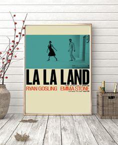 LA LA LAND Emma Stone, Ryan Gosling minimal artwork movie poster