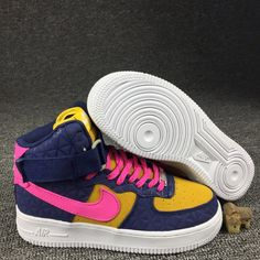 d336620368b Womens Shoes Nike Air Force 1 Hi PRM Suede Obsidian Dynamic Pink Sunset  845065 400 845065-400