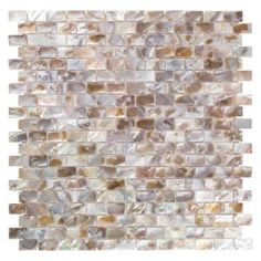 The popular Conchella Subway Series now comes in a sample size. Bring an organic and serene coastal ambience to your space with our Merola Tile Conchella Subway Natural Natural Seashell Mosaic Tile - Ceramic Mosaic Tile, Stone Mosaic Tile, Mosaic Wall Tiles, Mosaic Glass, Gloss Matte, House Tiles, Wall Installation, Sea Shells, Bathrooms