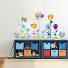 Removable Cartoon DIY New arrival Owl flower Butterfly sticke Art Vinyl Home Wall Stickers Decor Mural Decal kids room Baby Room Wall Decals, Flower Wall Decals, Butterfly Wall Stickers, Vinyl Wall Art, Baby Room Decor, Nursery Decor, Wall Stickers Animals, 3d Mirror Wall Stickers, Room Stickers