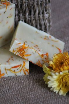 NEW - Geranium & Marigold made with love by MillCottageSoap on beaut-e