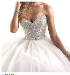 White Sparkly Dress..Love it
