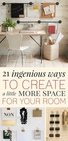21 Insanely Clever Ways To Create Space For Your Room