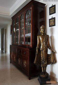 A Storage design photo which has Look: Traditional, Ethnic, Elegant; Buddha Decor, Buddha Zen, Storage Design, China Cabinet, Traditional, Elegant, Furniture, Home Decor, Blog