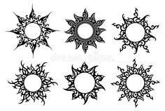 Sun Tattoo Tribal, Moon Sun Tattoo, Tribal Sun, Sun Tattoos, Body Art Tattoos, Sleeve Tattoos, Tatoos, Mandala Sonne Tattoo, Tattoo Sonne