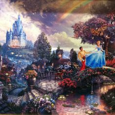 Someday I will own a Thomas Kinkade Disney painting...