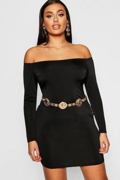 c446b6ebada18 Plus Bardot Disco Slinky Bodycon Dress - boohoo, party dress, holiday dress,  new