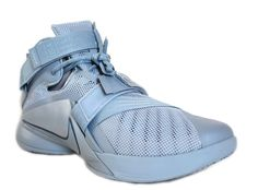 95fa1dce0936 Nike Men s Lebron Soldier IX PRM Basketball Shoes 749490 444 Blue Grey Size  11.5  Nike