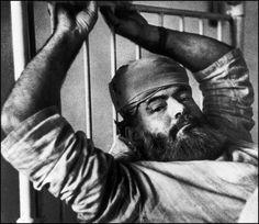 London—Hemingway recovering from a car accident, May 1944.  © Robert Capa © International Center of Photography / Magnum Photos