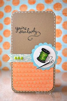 Lawn Fawn Sew Lovely   by maropeusa, via Flickr