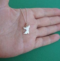 Valentines day Chihuahua Dog Necklace sterling silver Chihuahua pendant Dog charm Kids Teen Jewelry Women BF Pet Jewelry
