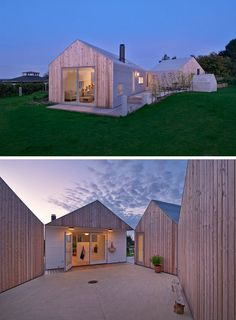 19 Examples Of Modern Scandinavian House Designs   The five separate buildings that make up this home all feature both light wood and metal siding as well as metal roofs that allow the home to look unified despite its divided layout.