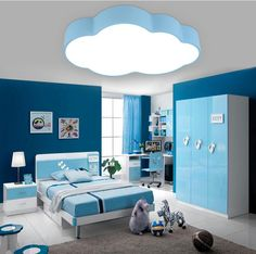 Modern brief children bedroom blue cloud iron ceiling lamp home deco dining room acrylic ceiling light fixture