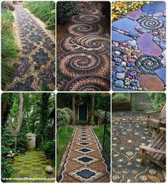 Garden idea's for paths or walkways!!! Love this!!!