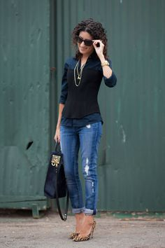 Black and Navy | Alterations Needed