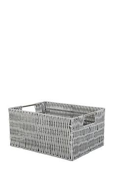 """This woven plastic utility is perfect for your bathroom. It's waterproof and easy to clean, just wipe with a damp cloth. Great for the storage of little items.<div class=""""pdpDescContent""""><BR /><b class=""""pdpDesc"""">Dimensions:</b><BR />L29xW19xH15 cm</div>"""