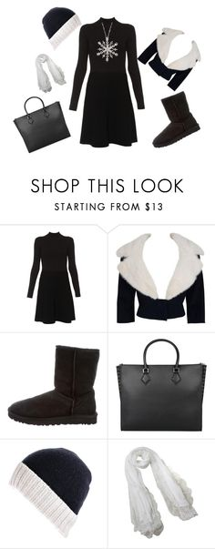 """""""Winter Wonderland"""" by steelersforlifeo on Polyvore featuring Paule Ka, Jean Patou, UGG, Valentino, Black and Ross-Simons"""