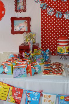 Dr. Seuss Party book cover banner