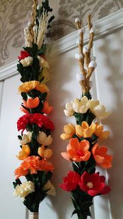 Art Deco, Diy, Leaf Crafts, Palmas, Easter Activities, Projects, Bricolage, Do It Yourself, Homemade