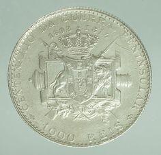 PORTUGAL, monarquia, moeda de prata. 1000 réis,1910. Gu..