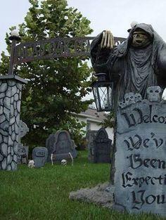 yard haunt - we've been expecting you...