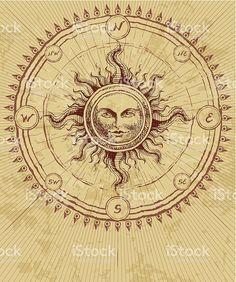 Compass rose vetor e ilustração royalty-free royalty-free