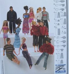 Burda 8576 11 1 2 Fashion Doll Clothes Sewing Pattern Fits Barbie | eBay
